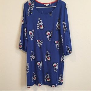 Boden size 12 long sleeve floral dress